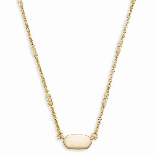 Fern Pendant Necklace In Gold