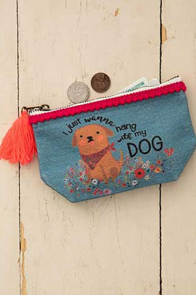 Mini Canvas Pouch Hang With My Dog