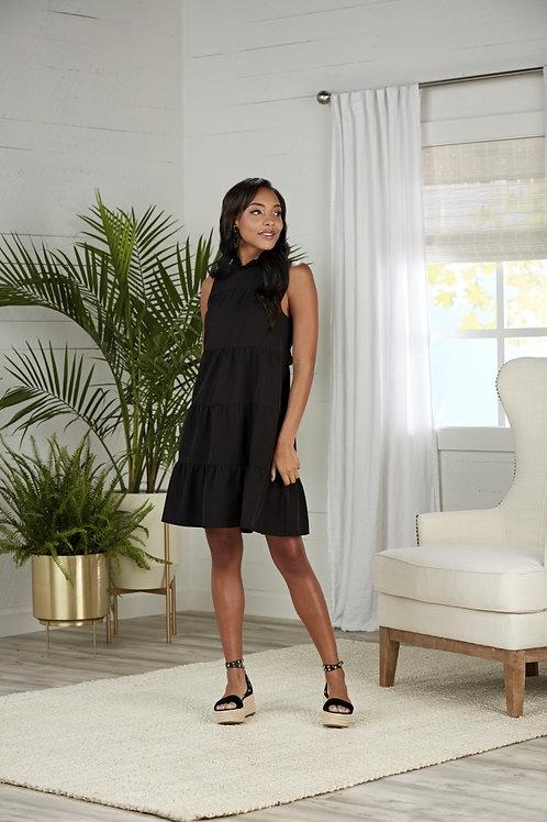 Black Nat Bow Tie Dress
