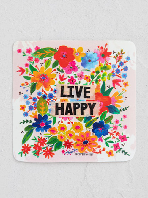 Live Happy Vinyl Sticker