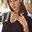 Thumbnail: Ellie Gunmetal Stud Earrings In Black Drusy