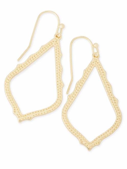 Sophia Drop Earrings-Gold