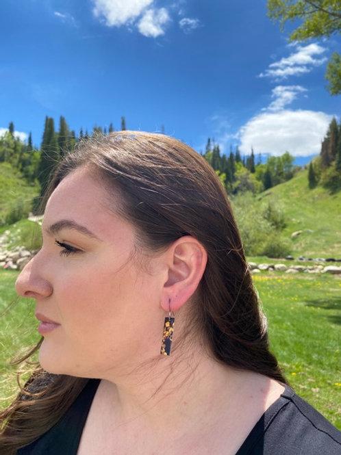 Aspen Leaves Rectangle Earrings