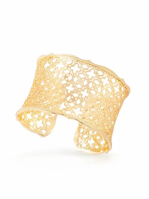 Candice Gold Cuff Bracelet In Gold Filigree