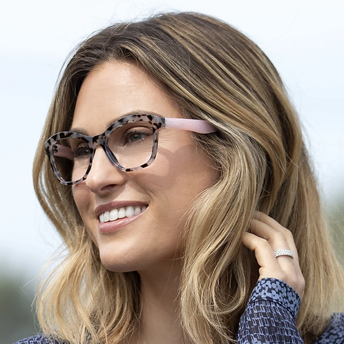 Peepers Glasses-Pebble Cove-Gray Tortoise/Pink