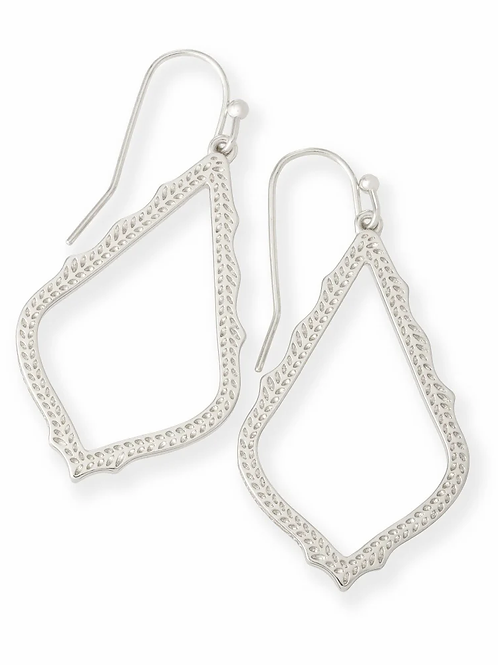 Sophia Drop Earrings-Silver