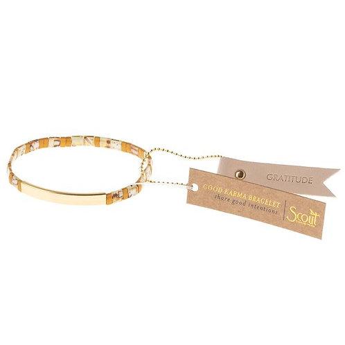Good Karma Miyuki Bracelet | Gratitude - Amber/Gold