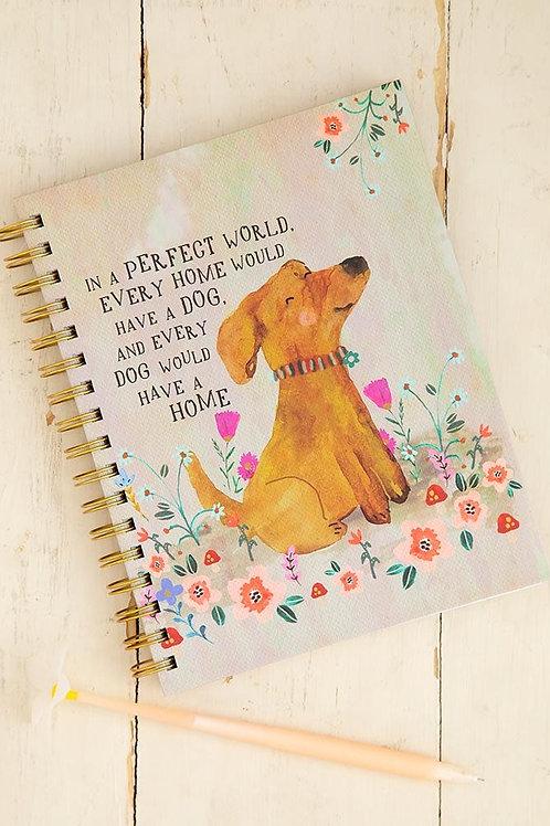 Perfect World Dog Spiral Notebook
