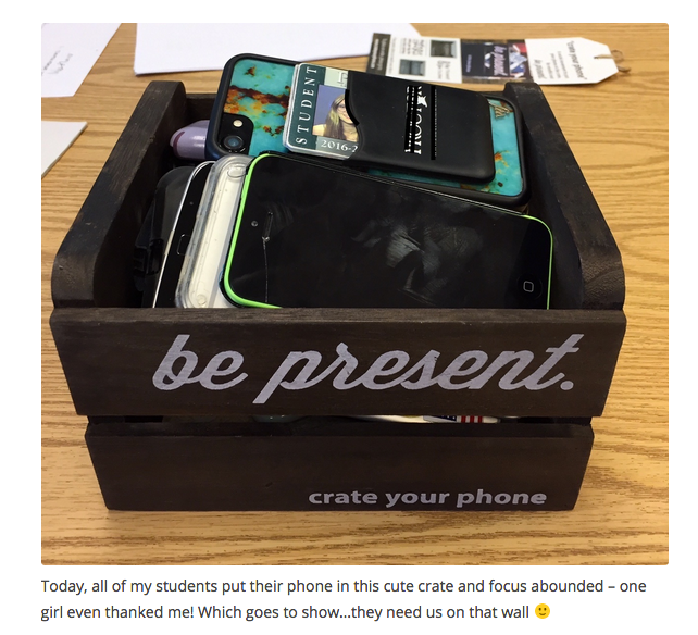 She uses Crate Your Phone in her classes and loves it.