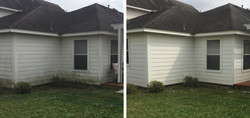 Pressure Washing Mold on Home