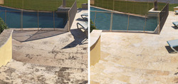Power Wash Stone Pool Deck