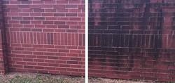 Power Washing Brick Wall