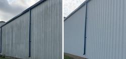 Aluminum Building Pressure Washing