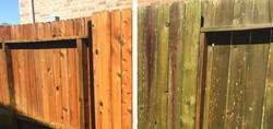 Power Washing Wood Fence