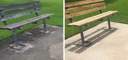 Park Bench Cleaning