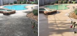 Power Wash Concrete Pool Deck