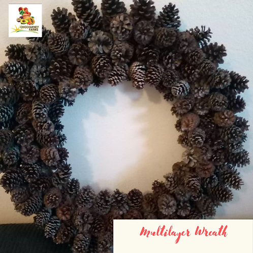 Pine Cone Wreath - Multi Layered