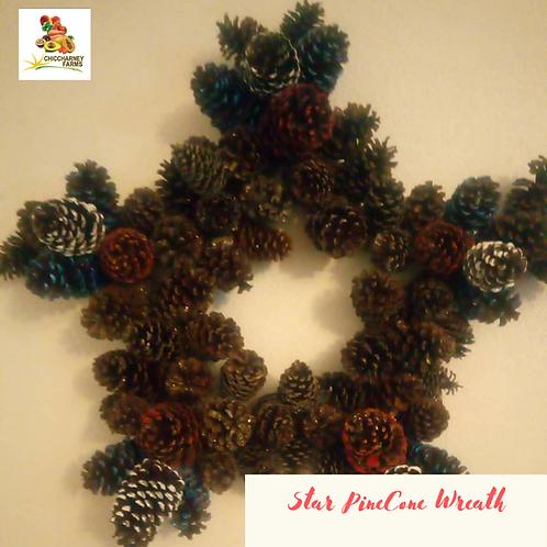Star pine cone wreath