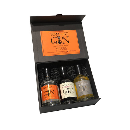 Tom Cat Trio Gift Box - Dry Sussex, Cloudy Mango & Blueberry Gin