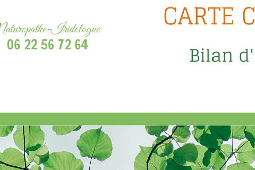 CARTE CADEAU BILAN D'IRIDOLOGIE