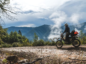 motorcycle adventure on the summit of th