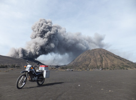 "Riding through the crater of a volcano /      The Aussie Bike or Hike ""Guest Travel Blogs"" #1"
