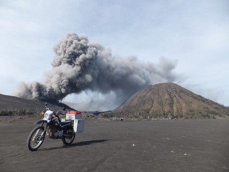 """Riding through the crater of a volcano /      The Aussie Bike or Hike """"Guest Travel Blogs"""" #1"""