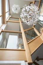 Oak framed staircase