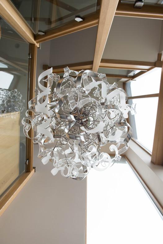 Oak framed, glass staircase