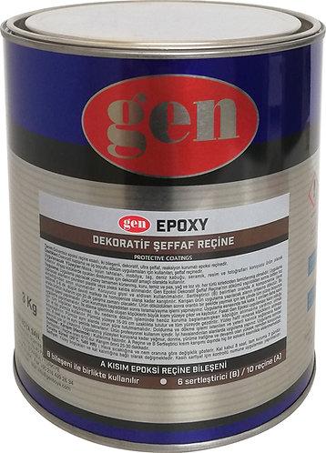 600-Gen Epoxy / Dekoratif Şeffaf Reçine