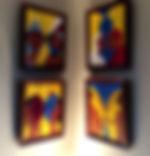 YAVANIKA, Quadriptych  1'x1.5' acrylic on canvas, framed