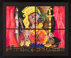CRACKING INDIA  4'x 3'' acrylic & oil on canvas, framed