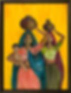 CONSTRUCTION SITE  2'x 2.5'' acrylic on canvas, framed