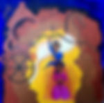CHITRANGADA  3'x3' acrylic on canvas, unframed