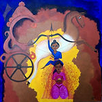 CHITRANGADA  3'x3' acrylic on canvas, unframed