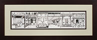 GUJARAT VIGNETTES  3'x 1' pen and ink on paper, framed