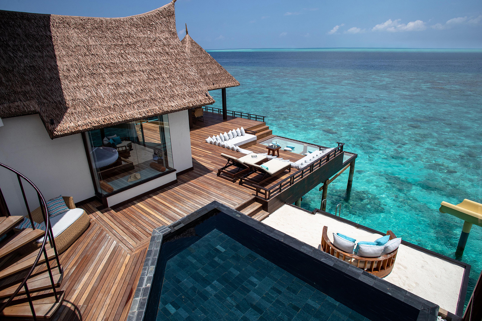 OZEN RESERVE BOLIFUSHI - Private Ocean RESERVE with Slide - Open Air Deck