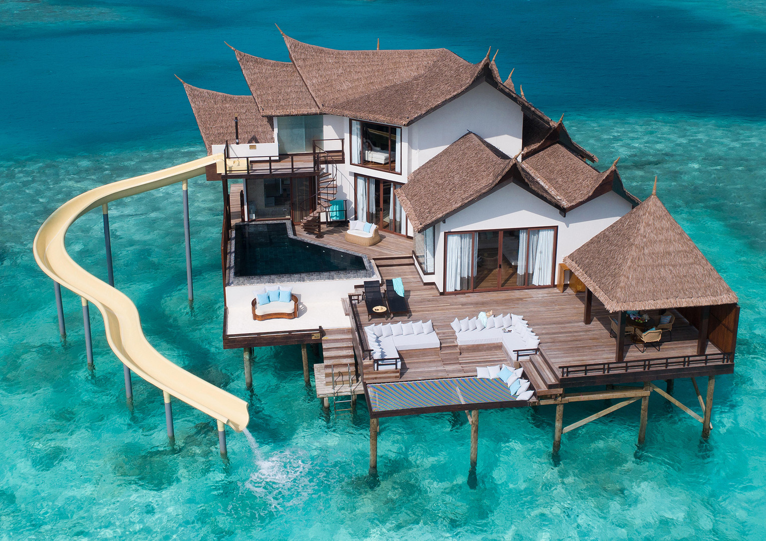 OZEN RESERVE BOLIFUSHI - Private Ocean RESERVE with Slide - Exterior View 2