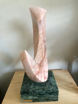 "Large Pink Alabaster 12w""x4d""x17h"""