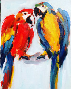Macaw Parrots Girls Strawberry Patch Del