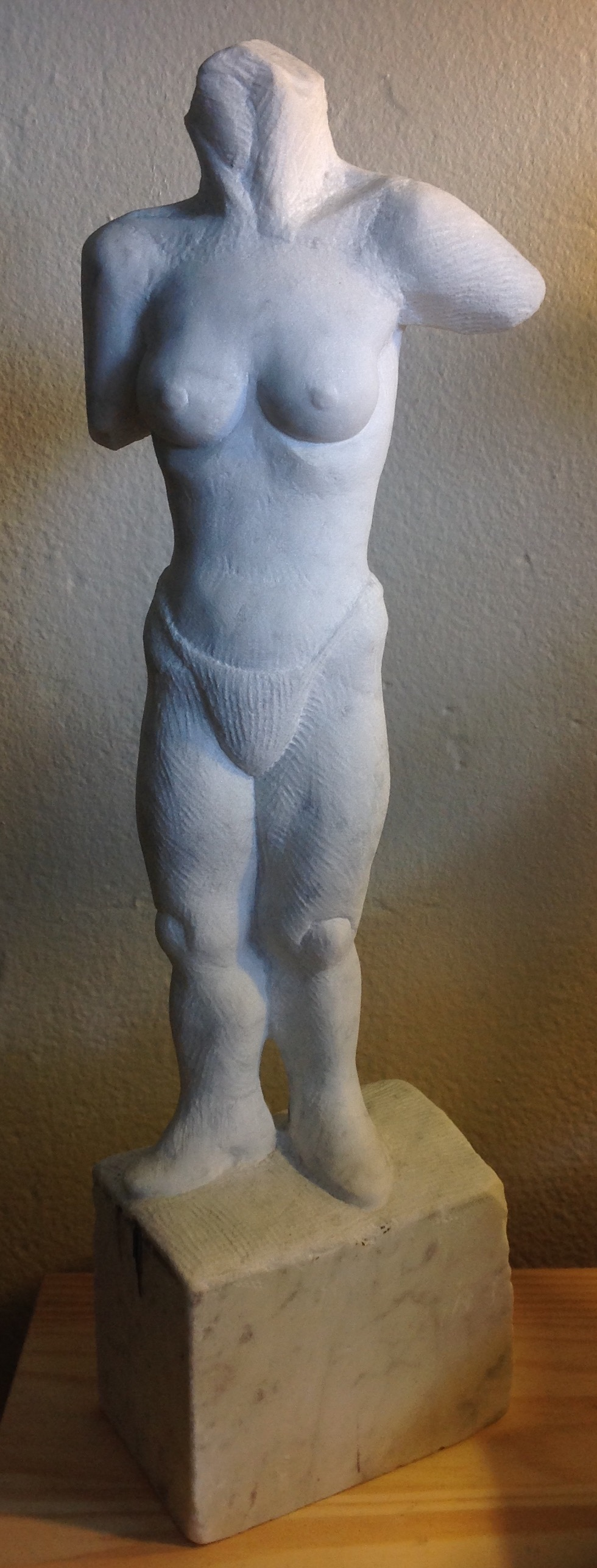 Small marble female figure