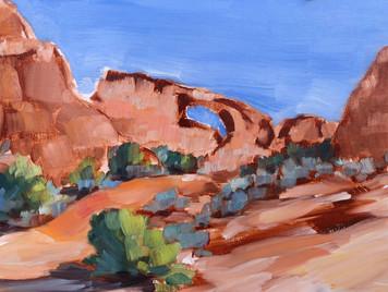 Skyline Arch, Arches National Park Utah.