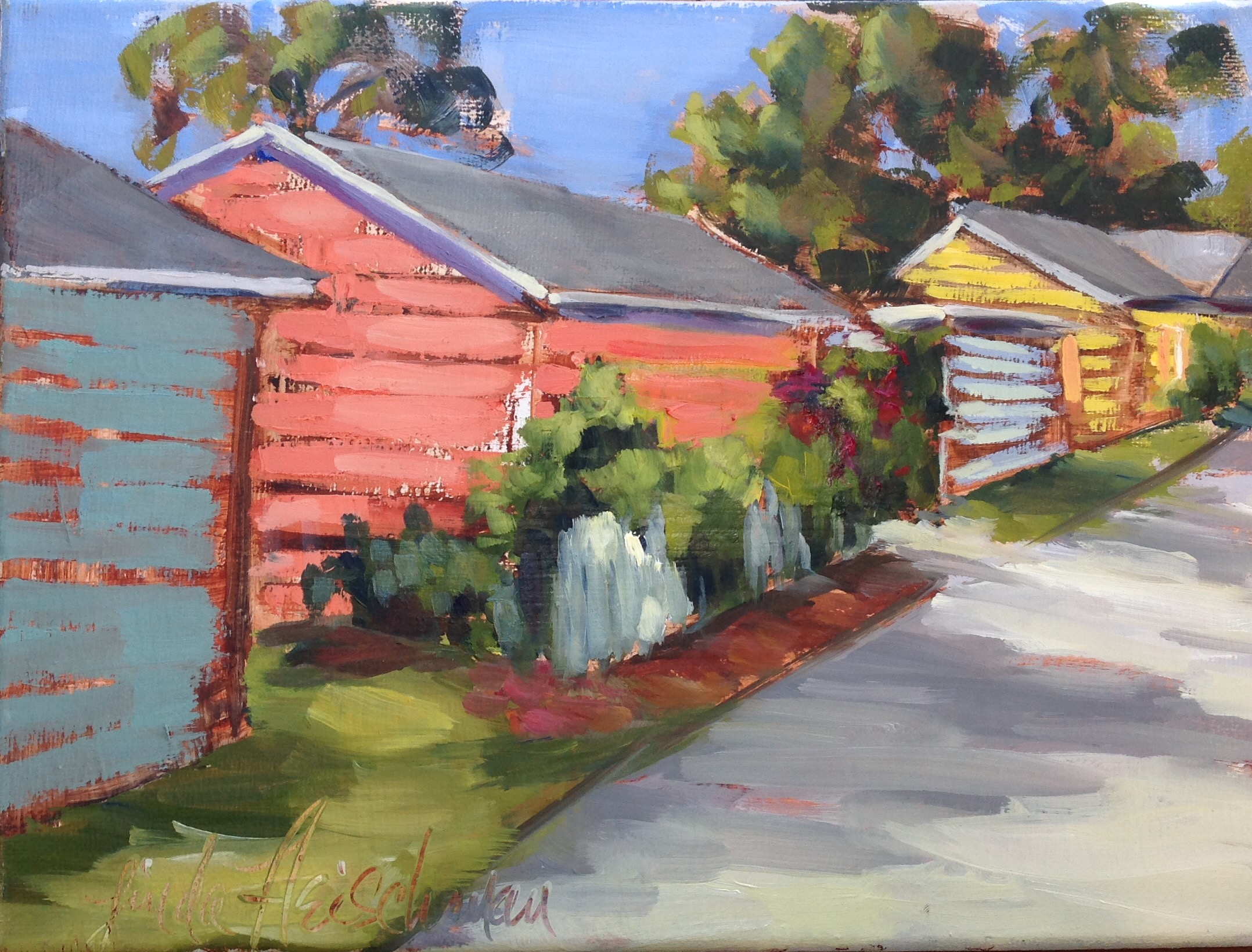 "Bankers Row Alley Oil 9h""x12w"""
