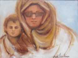 """Turkish Mother & Child oil 9h""""x12w"""""""