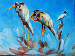 Great Blue Herons of Wakodahatchee Wetla