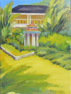 Bonnet House Aviary Garden Oil
