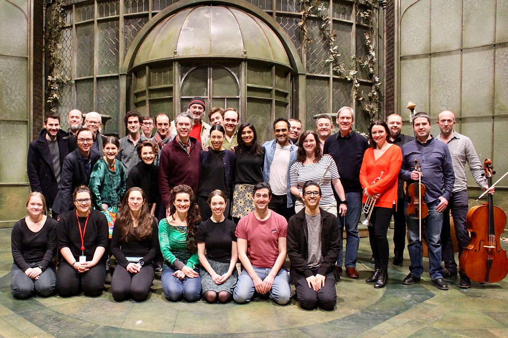 A picture of the cast and musicians.(with my camera as I had the dubious responsibility of photographer for the occasion!)