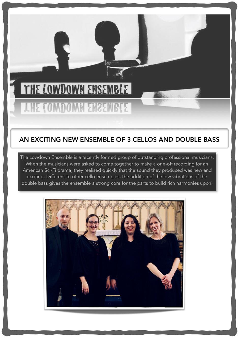 The Lowdown Ensemble takes flight!