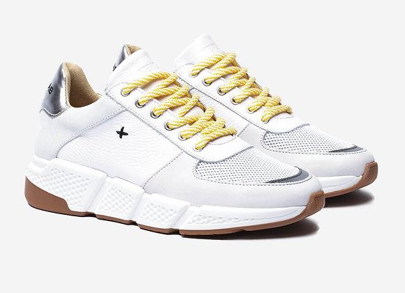 COOPER White/Silver Sneakers