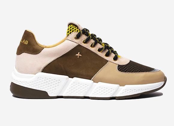 COOPER Khaki/Yellow Sneakers
